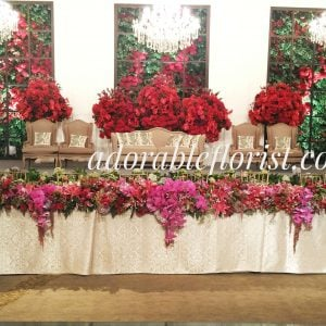 Bridal table arrangment