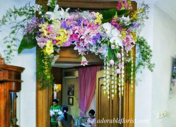 Arrangement for bridal room