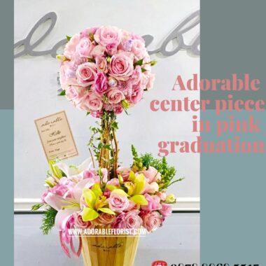 dekorasi bunga untuk di meja tamu