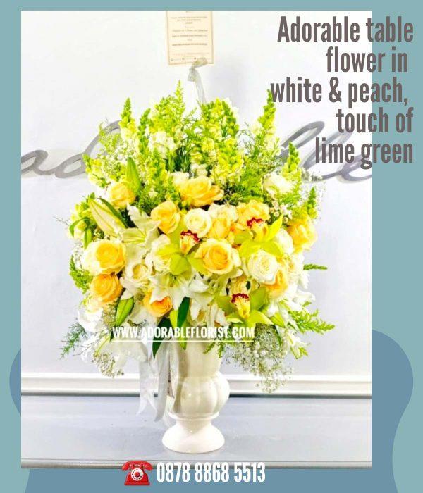 bunga meja simple