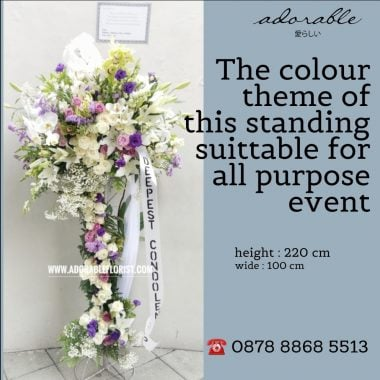 standing flower pernikahan