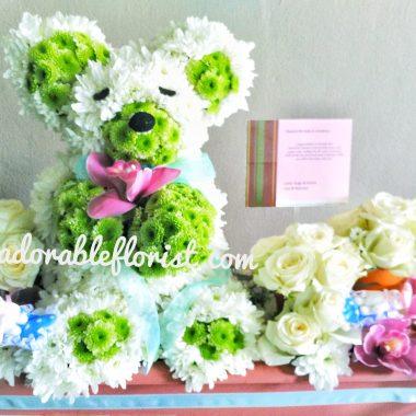 bunga dan boneka teddy bear