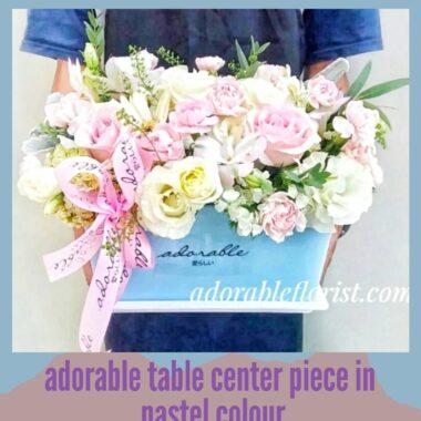bunga hidup untuk meja tamu