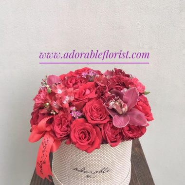 adorable round box arrangementv