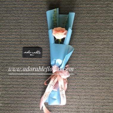 Dibawah penangangan staff Adorable Florist yang berpengelaman, sebatang rose menjadi hadiah bunga valentine yang mewah, dengan cara bungkus yang rapi, berkwalitas dan elegant. Khusus untuk hari valentine pemesanan single rose hanya berlaku untuk pembelian langsung di Toko , silakan hubungi kami untuk pemesanan.