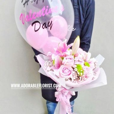 Adorable Pinky Ballon Bouquet