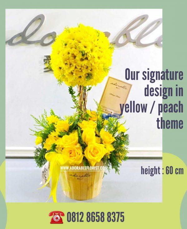 jual bunga dekorasi meja