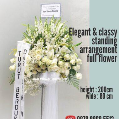 standing bunga besi