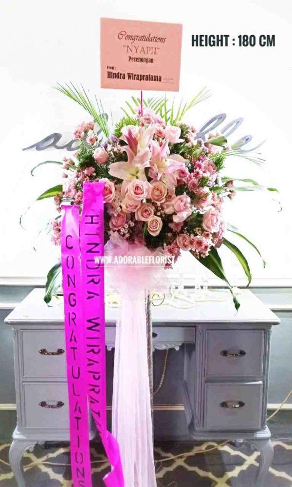 jual karangan bunga standing