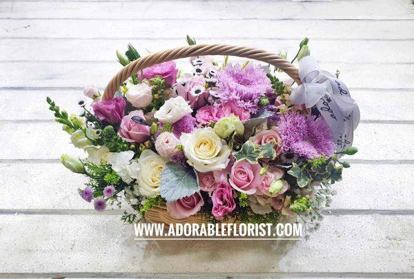rangkaian bunga ala korea